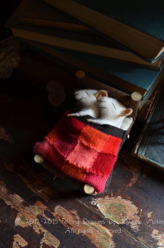 Felting Dreams needle felted mice
