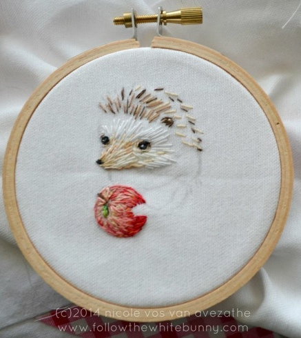 Hedgie in process.