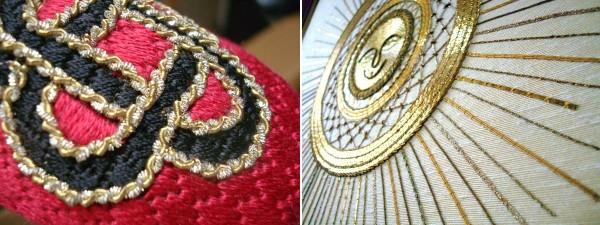Real metal threads add supreme elegance.