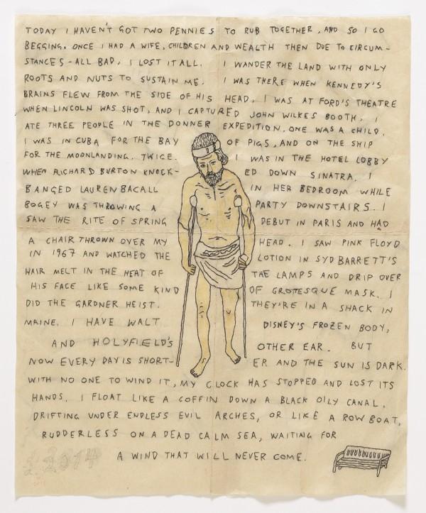David Curcio - The Beggar - Hand Embroidery