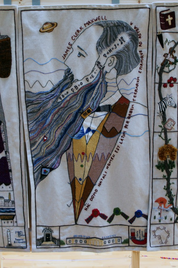 James Clark Maxwell panel at the Great Tapestry of Scotland