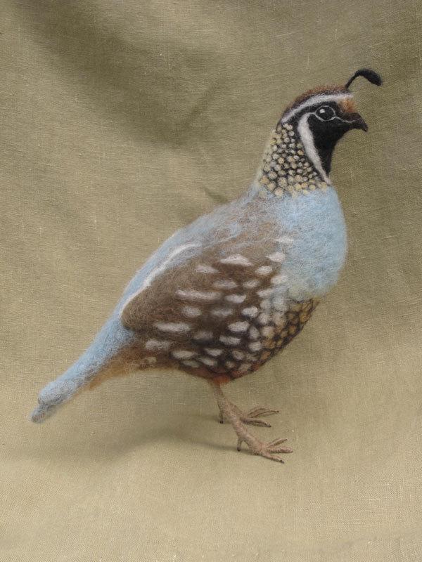 Hannah Stiles/Ainigmati, needle felted quail