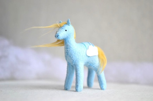 Sabina Gibson - Cloud Crystal Pony - Soft Sculpture