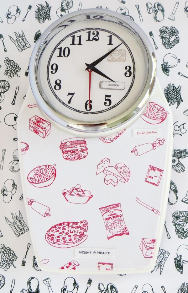 Caren Garfen - Clock, 'Weight a Minute' - 2014
