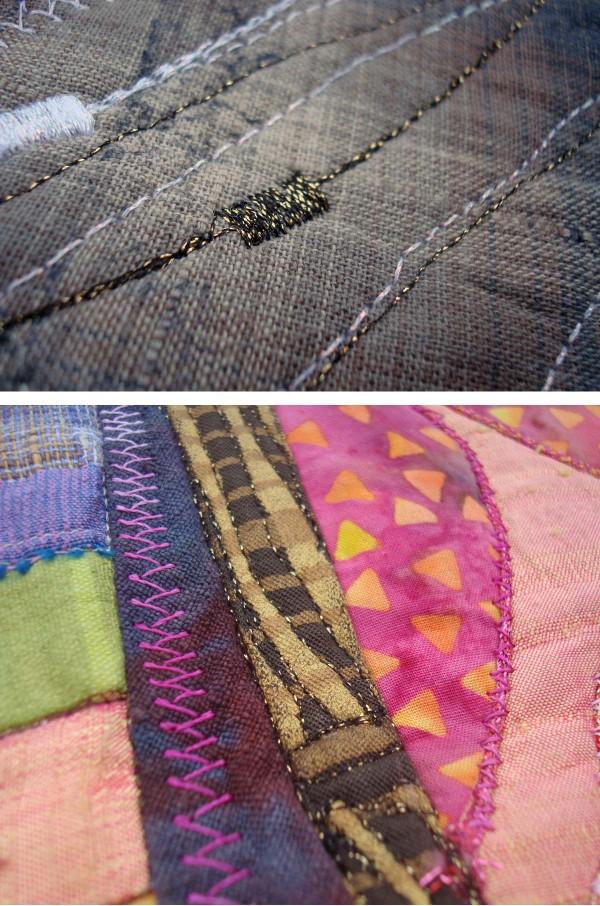 Eleanor used Kreinik Twist, a high-speed machine embroidery metallic thread.