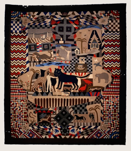 The Tailor's Coverlet (Wrexham Quilt) made by Jams Williams, 1842-52. Inlaid patchwork. © National Museum of Wales