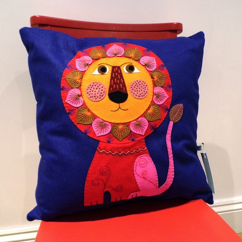 Lion Cushion by Applique Originals (Hand Embroidery)