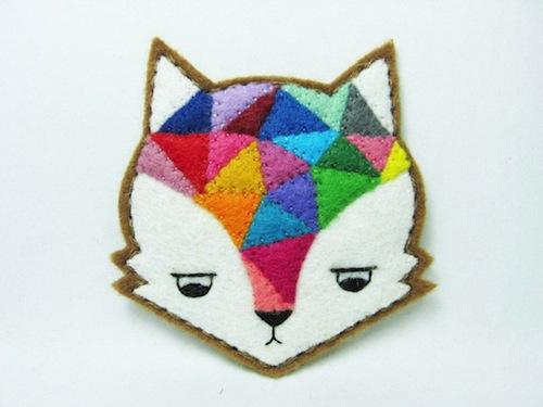 Annoyed Urban Fox Pin - Alina Bunaciu (Hand Embroidery)