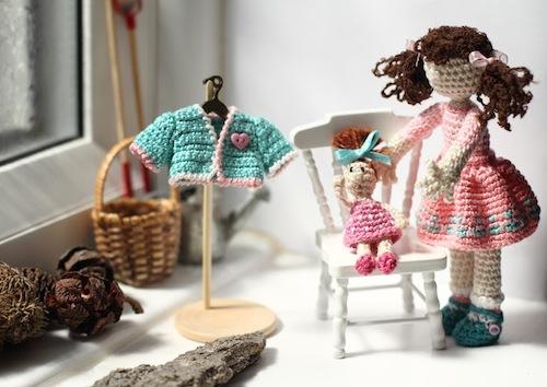 Miniature Art Doll by FancyKnittles (Crochet)