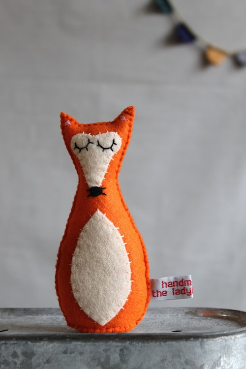 Red Fox Plushie by The Ladybird Tree (Hand Embroidery)