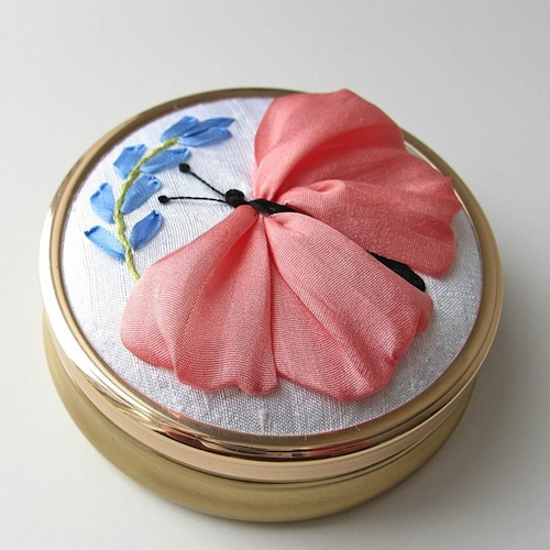 Butterfly Jewellery Box by bstudio (Silk Ribbon Embroidery)
