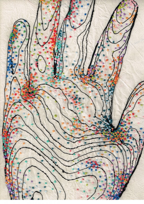 Rebecca Harris - embroidery hand