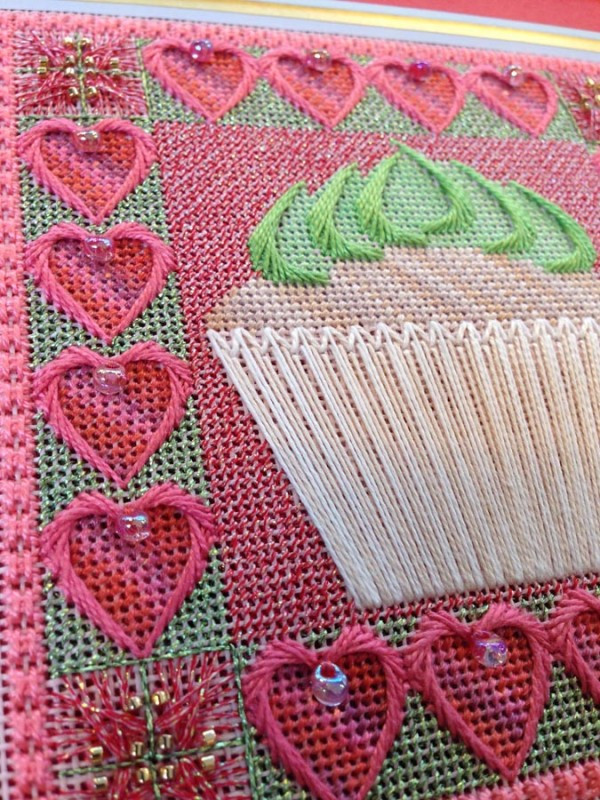 A charted needlepoint design from West End Embroidery featuring Kreinik threads.