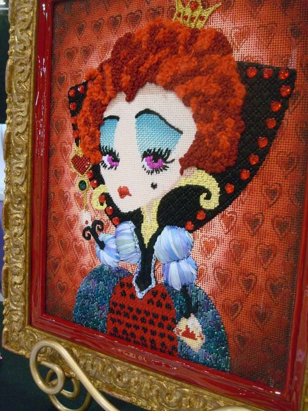 The Queen, a needlepoint design by Sandra Vargas, thread and stitch guide by Sandra Arthur, and distributed by Ruth Schmuff.