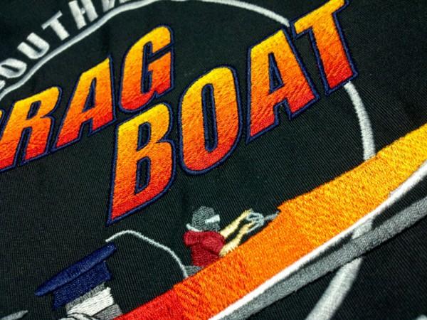 Drag Boat design showing manual blending