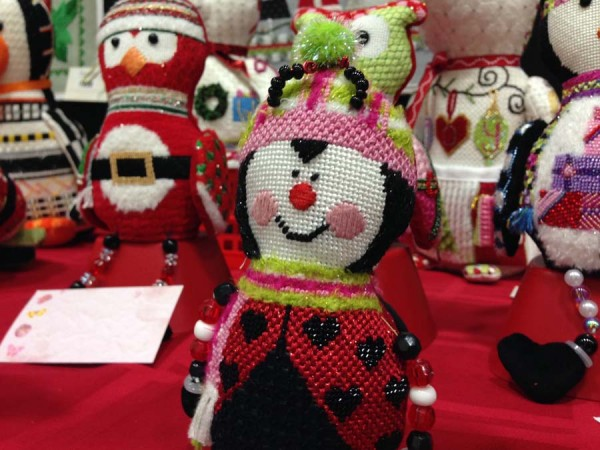 This little Lady Bug needlepoint is part of Sew Much Fun's Christmas ornament line.