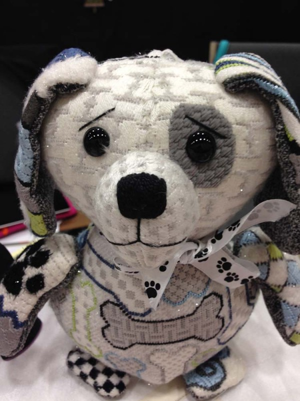Petie Puppy is the name of this painted canvas design from Sew Much Fun. He is part of the 3-D Baby Animals line.