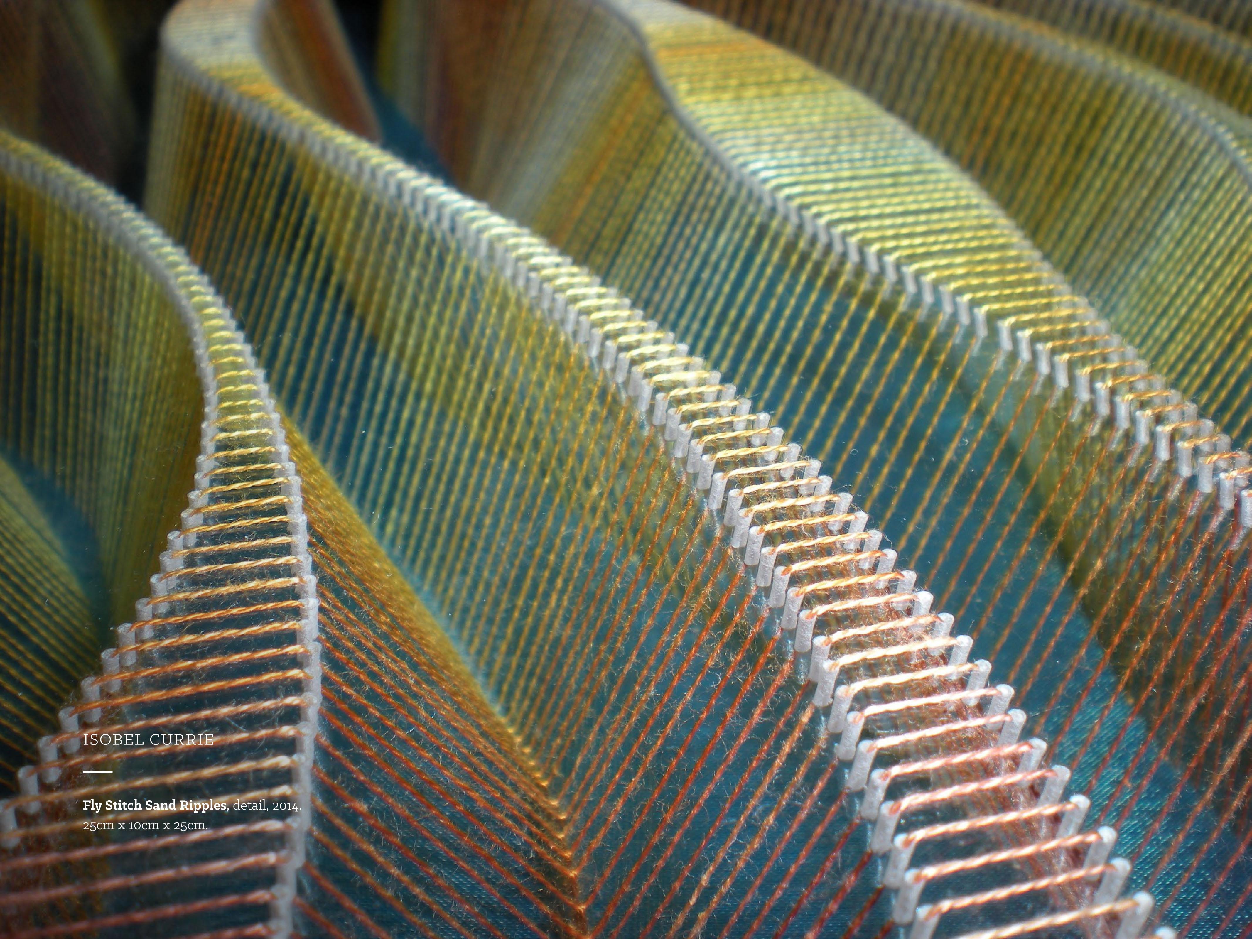3D mixed media textile art - Isobel Currie