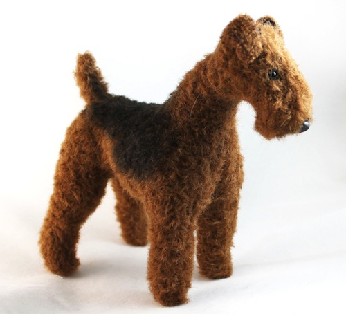 Airedale Terrier by Emma Hall Art (Soft Sculpture)