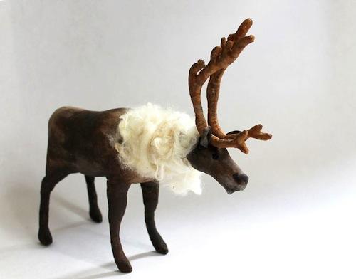 Reindeer by Emma Hall Art (Soft Sculpture)