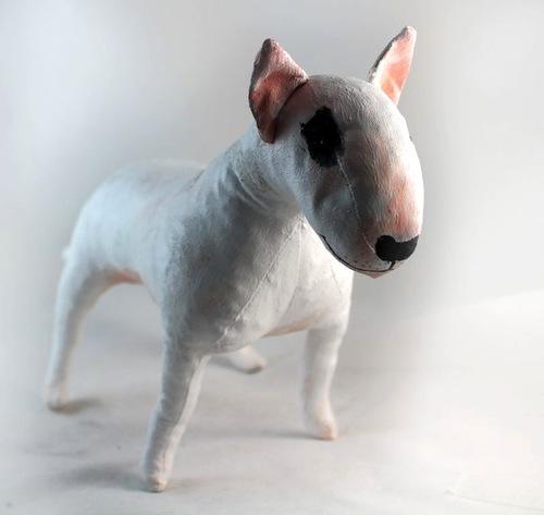 English Bull Terrier by Emma Hall Art (Soft Sculpture)