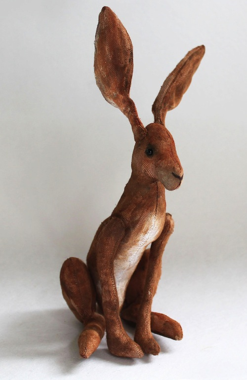 Brown Hare by Emma Hall Art (Soft Sculpture)