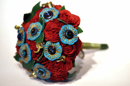 Gypsy Style Bouquet by Charlotte Laurie Designs (Hand Embroidery)