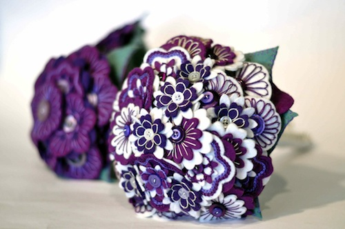 Wedding Bouquets by Charlotte Laurie Designs (Hand Embroidery)