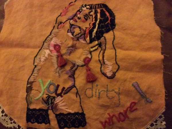 Allie Lee - Dirty Whore - Hand Embroidery