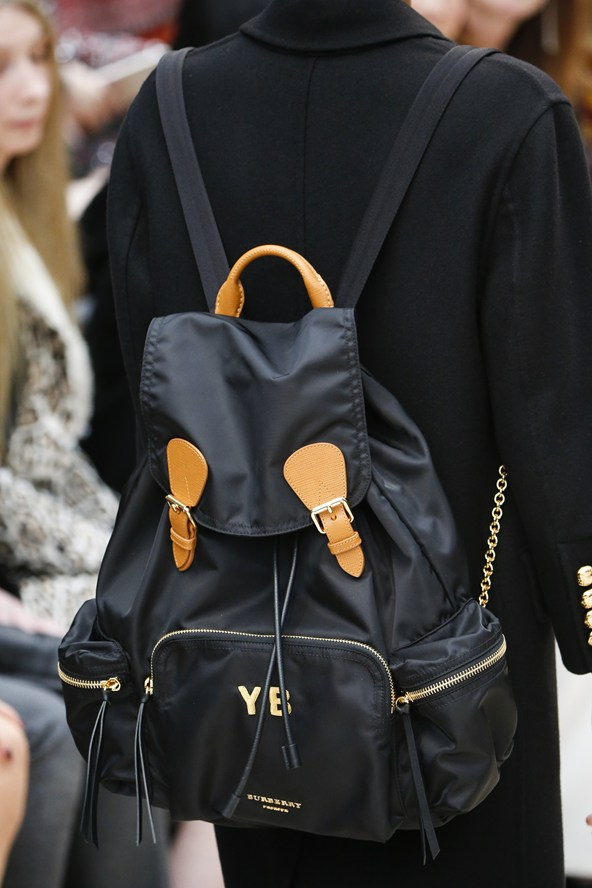 Hand & Lock Goldwork Bag at Burberry Fashion Show