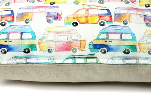 Campavan Cushion (detail) by Emma Allard Smith (Machine Embroidery)