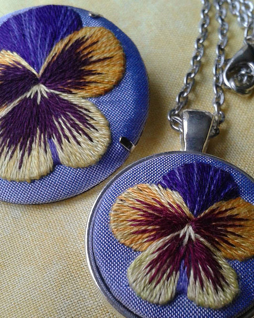 Marg Dier Hand Embroidered Flowers