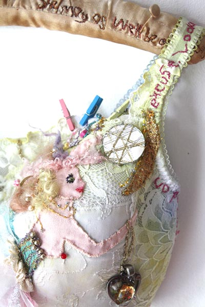 The Star Catche, embroidered bra, by Ailish Henderson