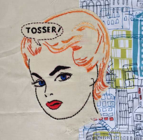 Alison Fitzgerald Lucas - Tosser - Hand Embroidery