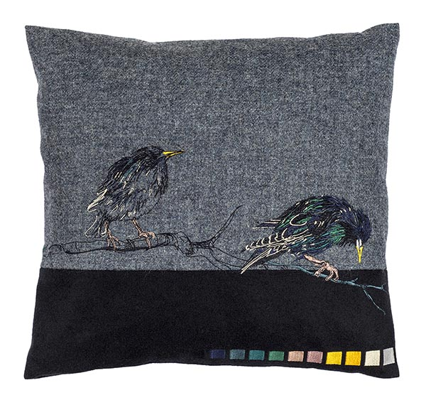 Jacky Puzey: Starling (Front) cushion, Jo Hounsome Photography