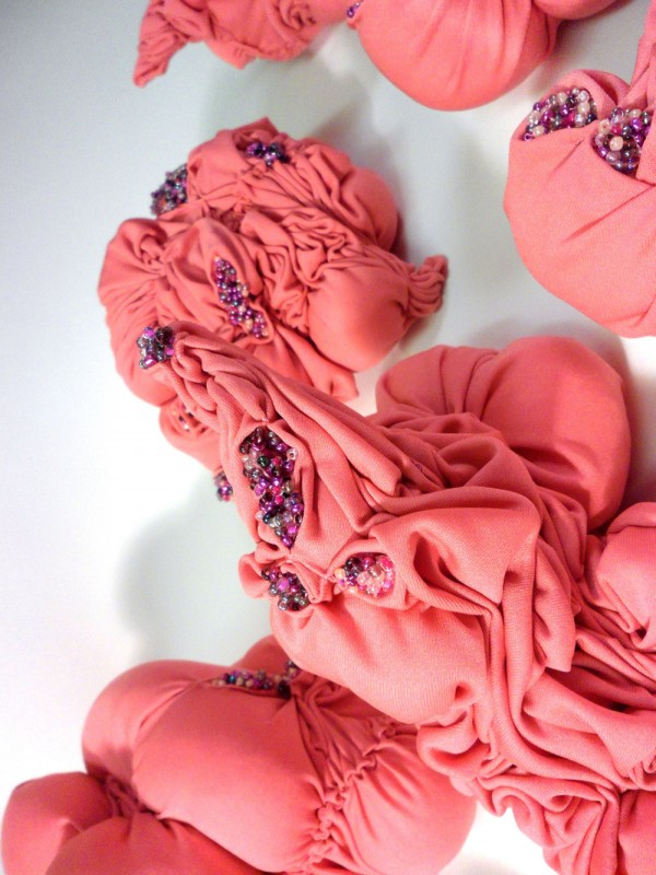 Holly Rozier - Unnatural Forms (series of 10), 2014, Textile Mixed Media, (Various Sizes) 20x20cm-3x3cm