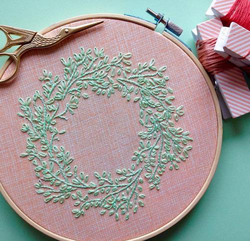 Femmebroidery - Nature Hoop Art