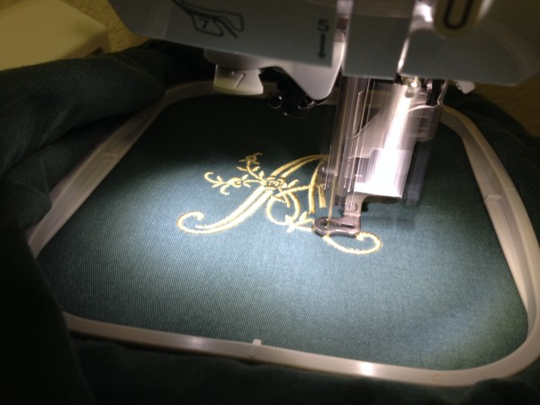 Embroidering a Monogram