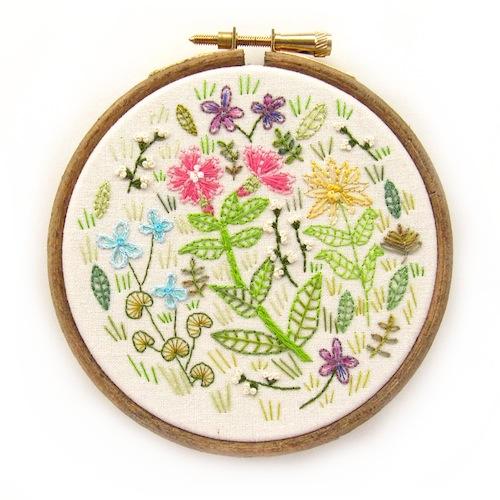 Chloe Redfern Artist - Wildflowers Hoop