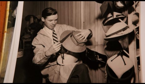 "Bill Cunningham was a milliner in his younger years (screen capture from the film ""Bill Cunningham New York"")."