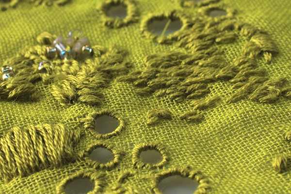 Embroidery detail, Ailish Reaney