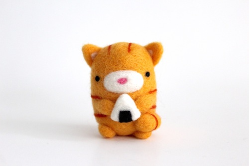 Wild Whimsy Woolies - Cat with Onigiri Sushi