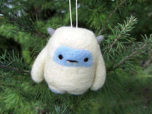 Wild Whimsy Woolies - Yeti Christmas Decoration