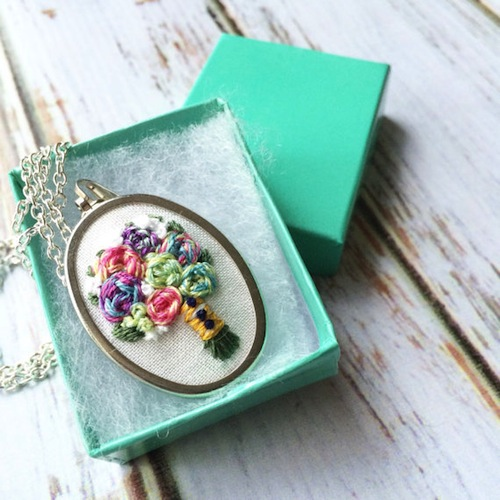 Thread The Wick - Bridal Bouquet Necklace