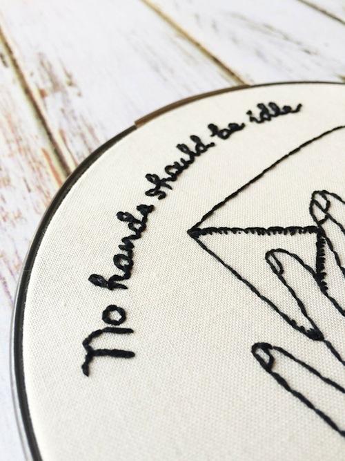 Thread The Wick - Idle Hands Hoop (detail)