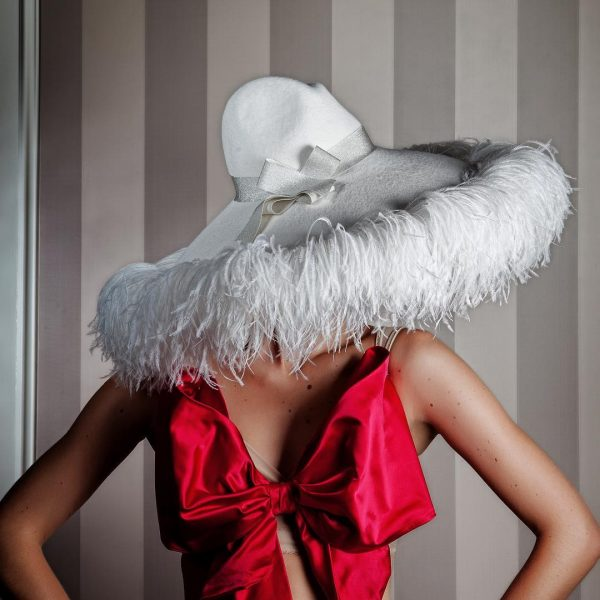 """Anya Caliendo Cashmere """"Siciliana"""" hat. SS2017 Collection. The perfect hiding place is always underneath the brim."""