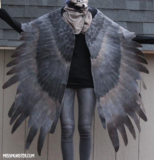 Miss Monster Mel wing shawl