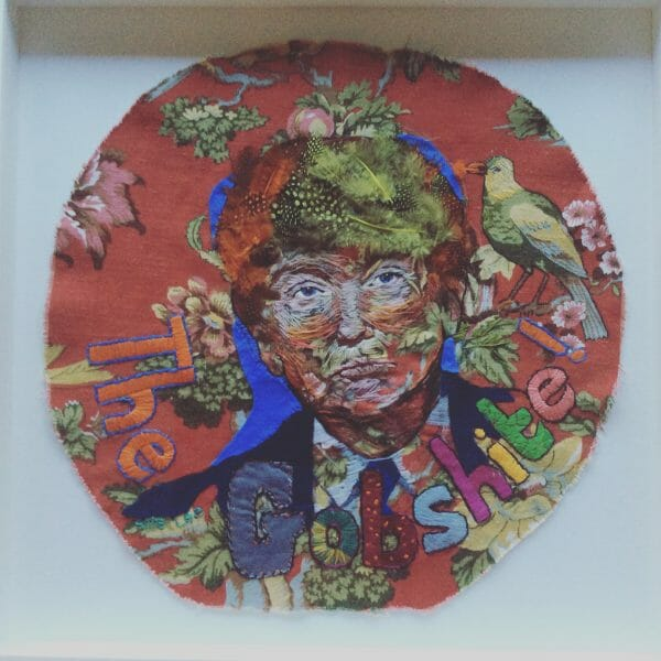 Allie Lee - Donald Trump - Hand Embroidery