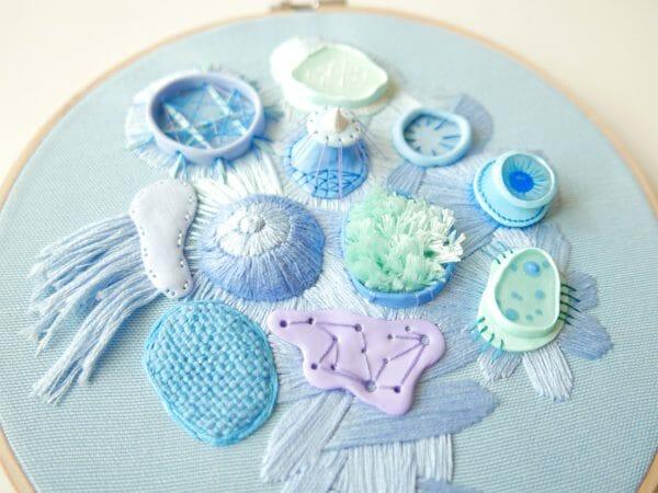Nibyniebo - Embroidery big blue 2