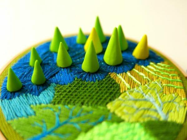 Nibyiebo - Green Embroidery